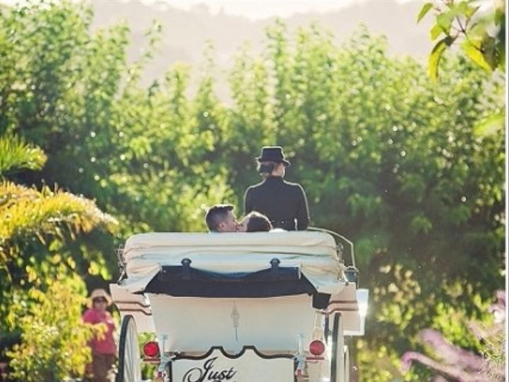 Tmx 1422380427409 Angelcorn Just Married Carriage Paso Robles wedding transportation