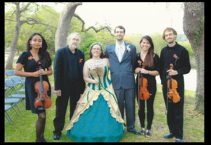 """Fountainhead ensemble in Austin Tx. Beautiful bride and fantastic wedding! """"We knew early on during..."""