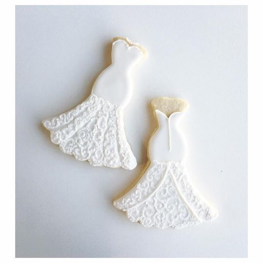 Trumpet dress cookie design