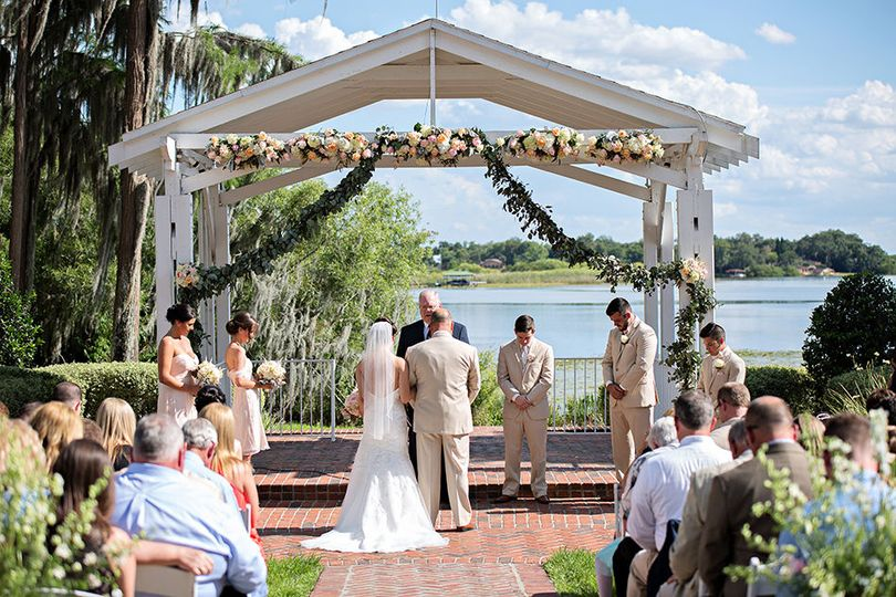 Ceremony under a blue sky