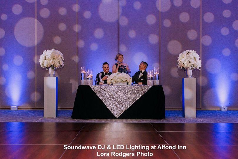 Wedding Lighting in Blue