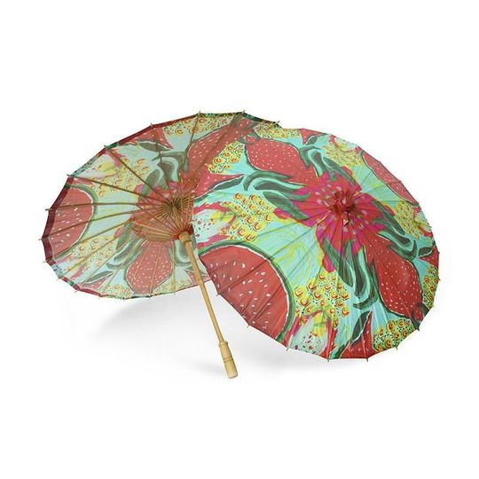 ParaSol Sanida Inspired by the delicious and tropical dragon fruits, watermelons and pineapples of...