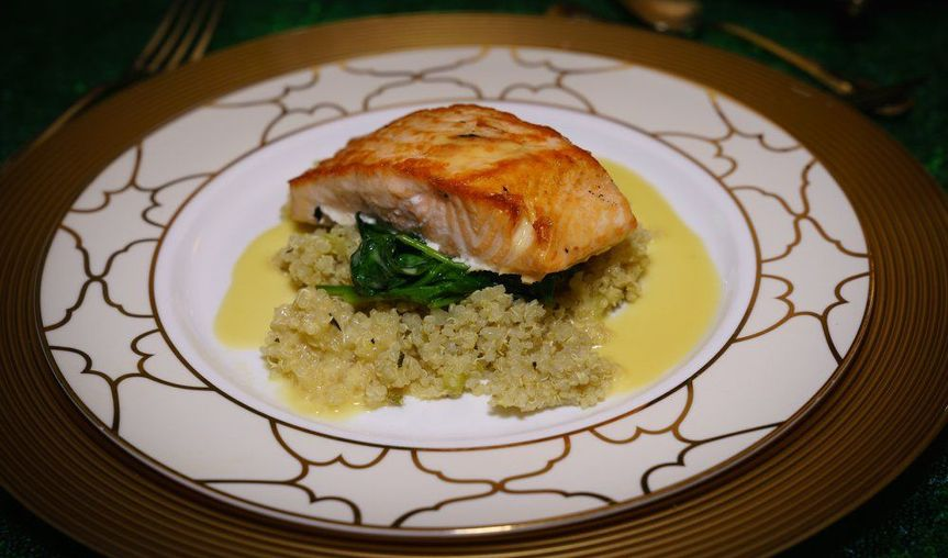 Sample salmon meal