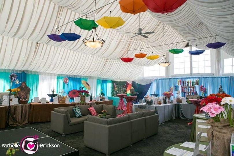 Sample tent venue