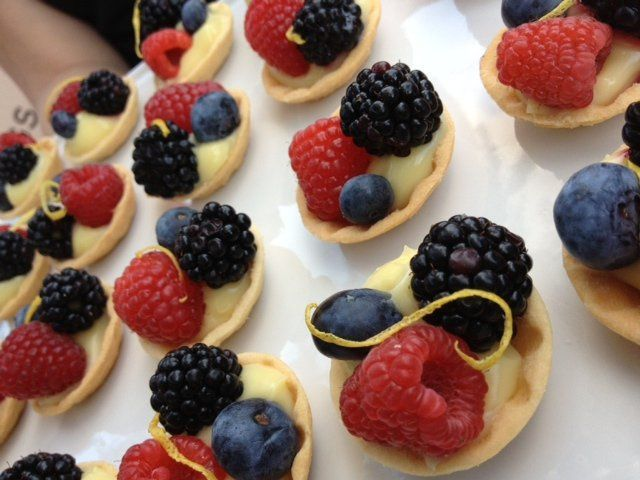 Our yummy fresh berry tarts