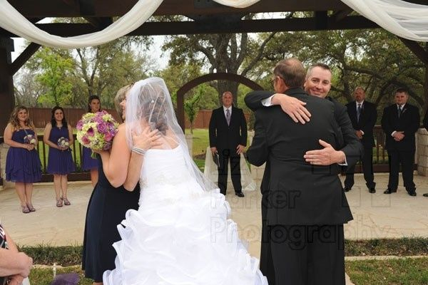 Tmx 1447445842608 Processional Bride  Groom Hugging Parents Gabriel  Temple, Texas wedding officiant