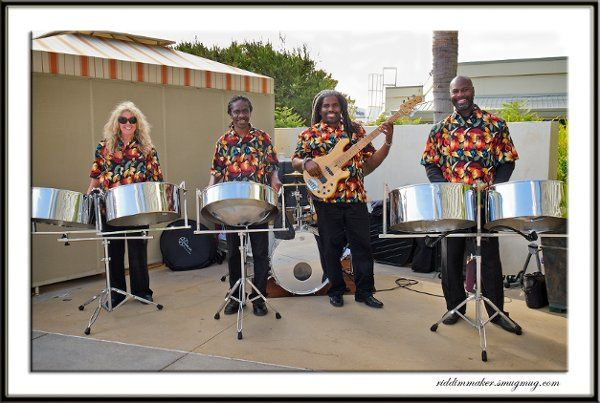 This is one of our four-piece steel drum bands. We provided music for a high-end corporate event in...