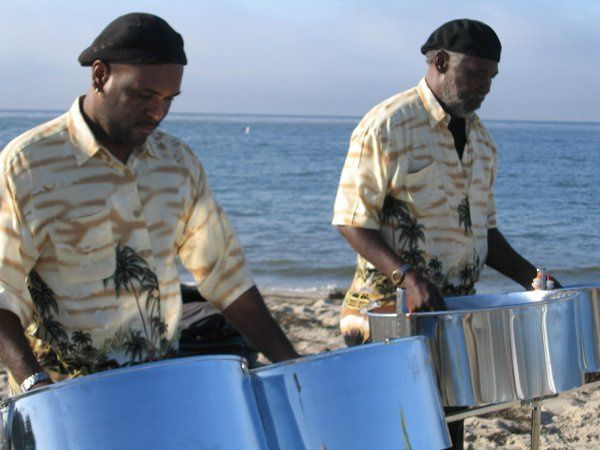 Photo from a beach wedding ceremony in Santa Barbara. Our steel drum solo, duo and trio are very...