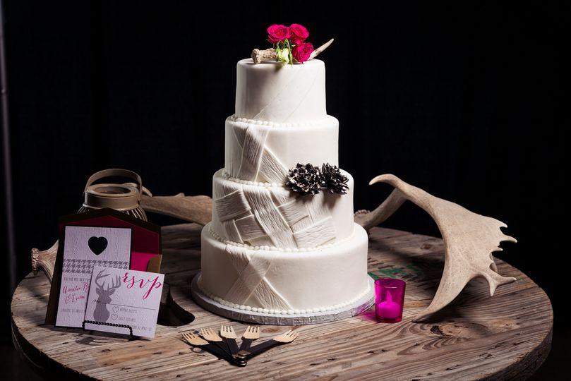 Four tier simple cake