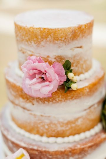 Two tier semi-naked cake
