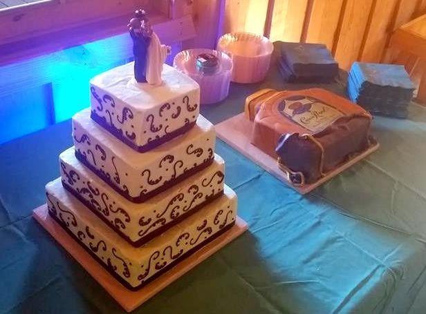 Four tier square cake