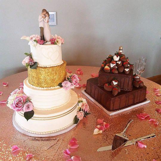 gold sanding sugar tier cake 51 143884 158276881491178