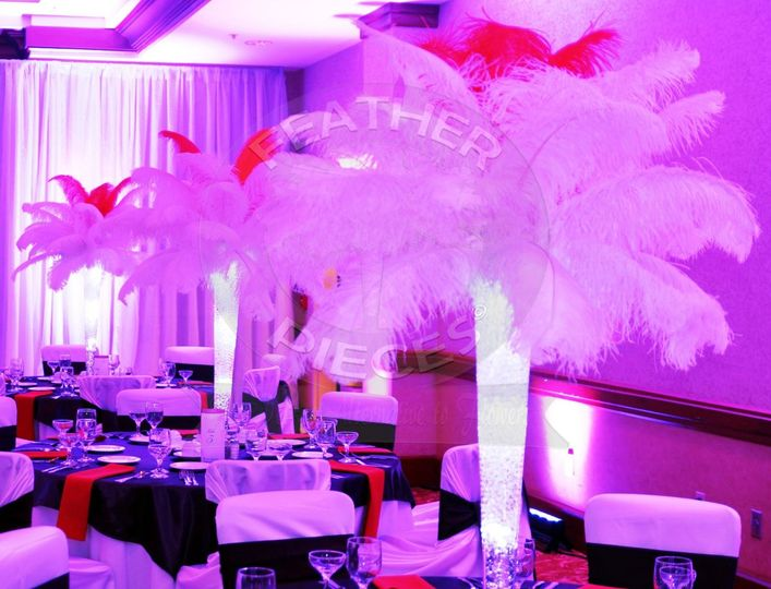Feather centerpieces for rent small house interior design