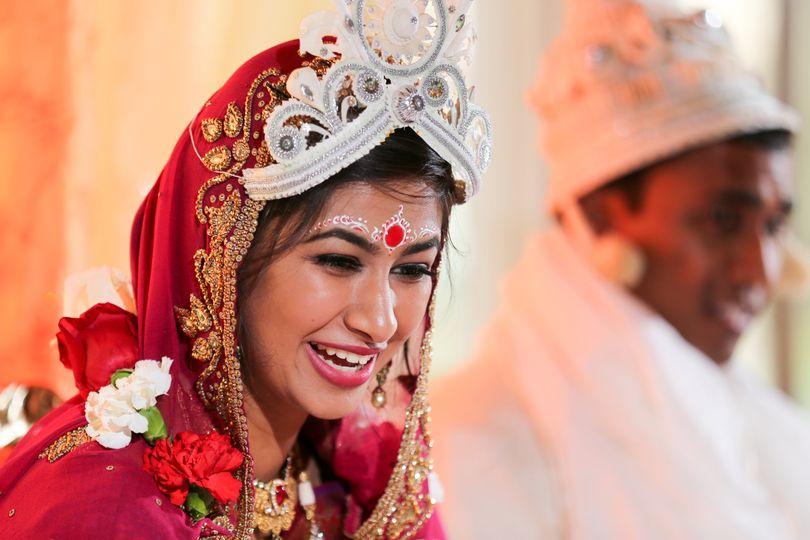 Bride overjoyed