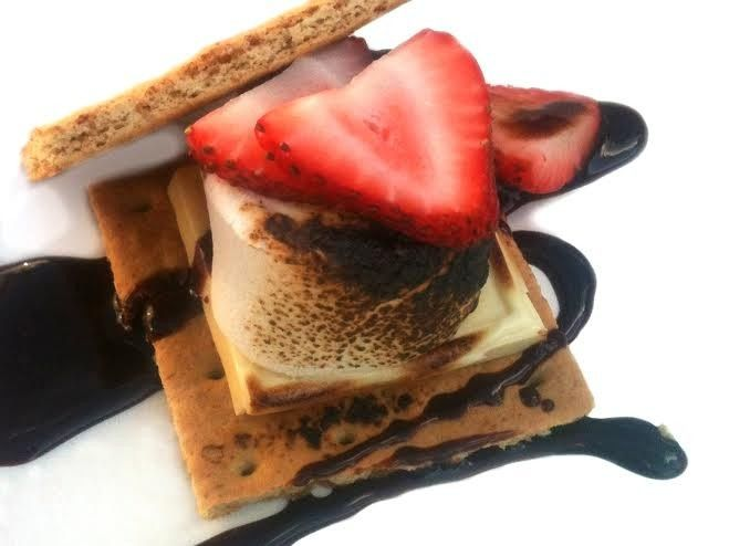 Smores with strawberries