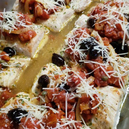 Mediterranean grilled mahi mahi