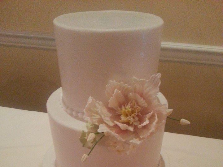 Tmx 1521794559 65def8a54cec1618 1521794558 A3c53676f8ab0a2c 1521794553975 6 Peony Cake Philadelphia wedding cake