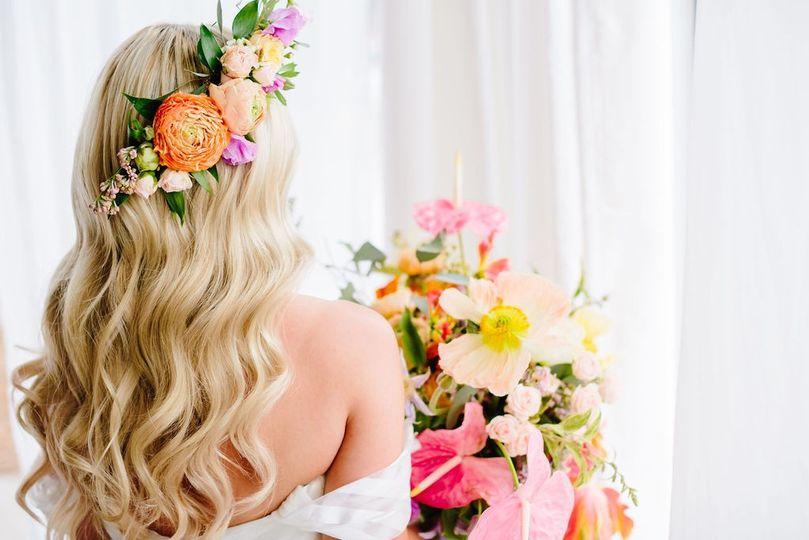 Bride's hair piece