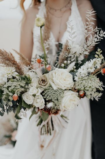 Dried natural boho bouquet