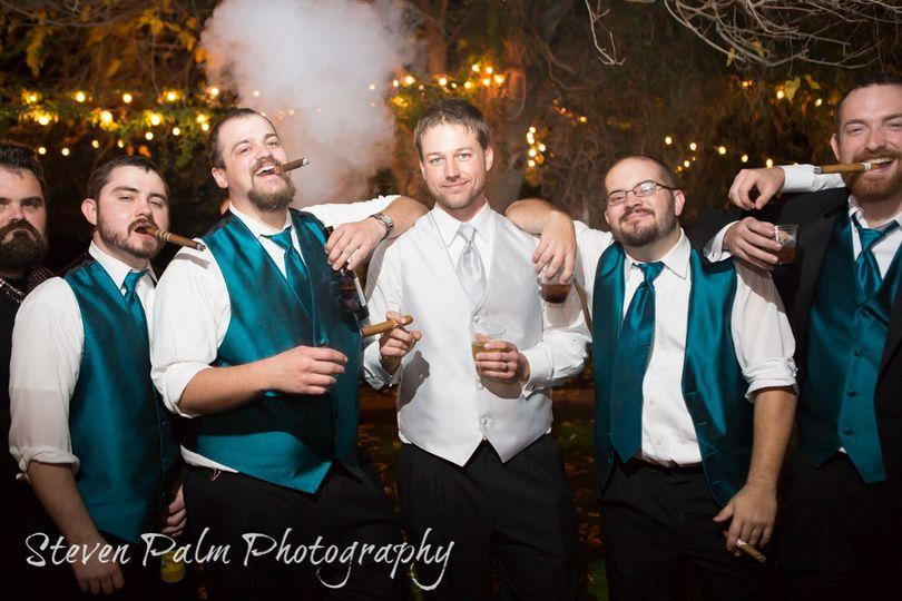 cigar groomsmen tucson weddings 1
