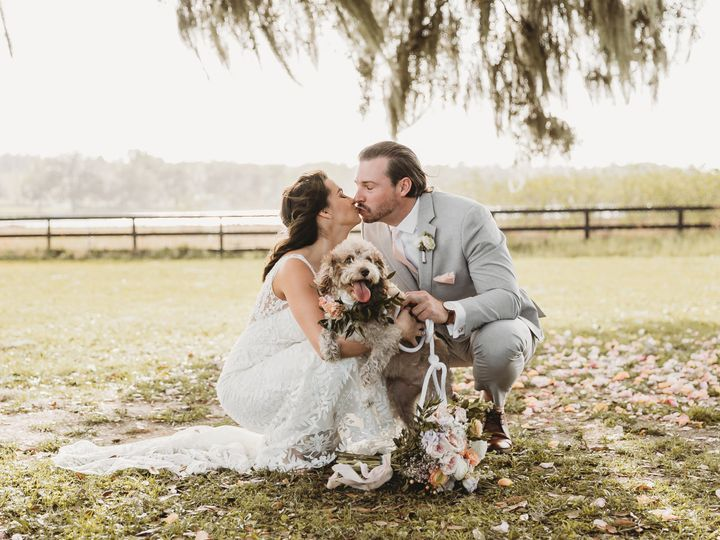 Tmx Mr And Mrs Walther Kissing With Dog 51 996884 159520016239085 Dade City, FL wedding venue