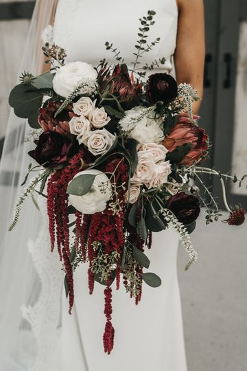 Fall Burgundy & Blush Wedding