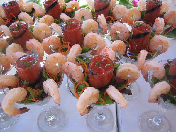 Shrimp in a martini glass