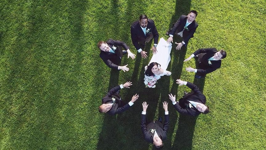 Drone with Wedding Party!