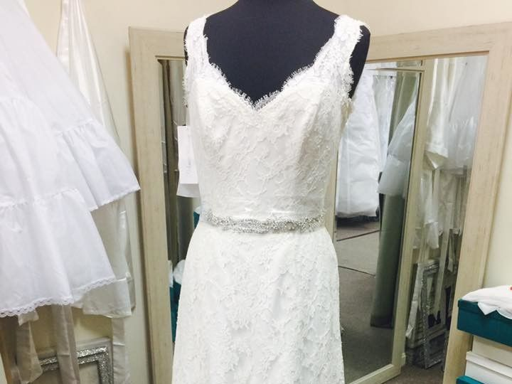 Tmx 1495154534443 Paloma Blanca Soft Lace Gown New With Tags Marylan North Beach, MD wedding dress