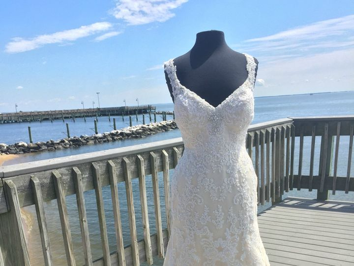 Tmx 1498834470410 Gorgeous Beige And Blush Lace Figt And Flare Weddi North Beach, MD wedding dress