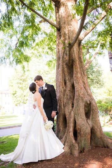 Couple by a tree