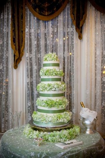 This is the beautiful cake by Eileen Carter. Stunning with hydrangea. Thank you Artstar