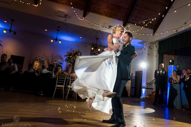 old mill wedding reception tks dance of bride and groom groom lifts bride groom lifts bride 51 2984 157981274211434