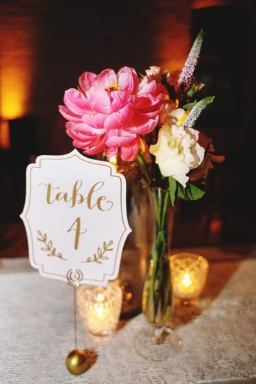 Flowers at table 4