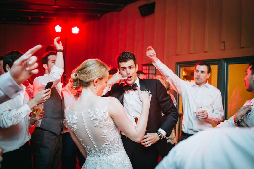 Newlyweds enjoying the dance floor
