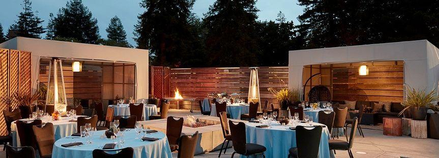 Poolside banquet