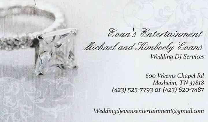 Evans Entertainment Wedding Dj