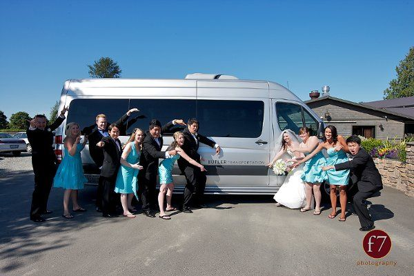 Tmx 1326179021483 BridalPartypointingtoLogoVan Seattle, WA wedding transportation