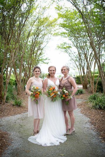 west coast foliage wedding in charleston carmen as