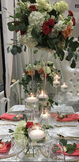 Elevated floral arrangements