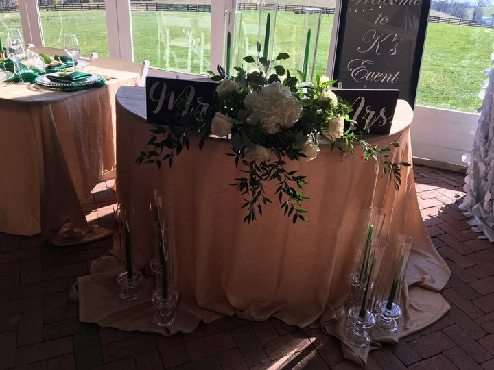 Mr. & Mr.s Sweetheart table