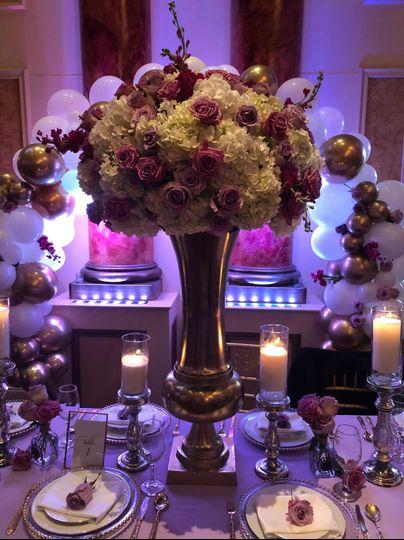 Large floral centerpiece