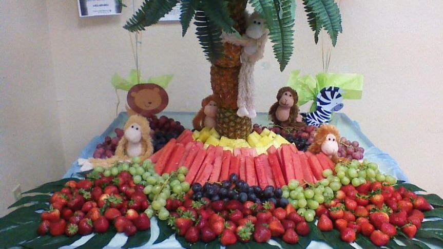 Jungle Themed Fruit Table