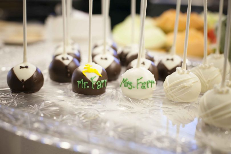 Mr. and Mrs. cake pops