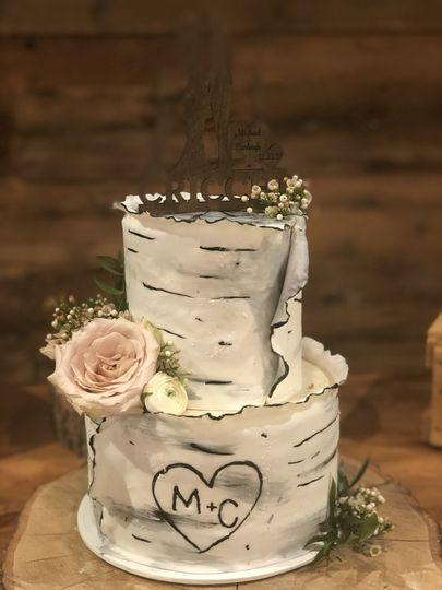 2 tier Birch Cake