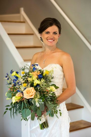 Yellows and Blue Bouquet