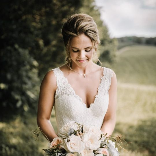 Bridal gown with deep neckline | Billie-Shaye Style Photography, LLC