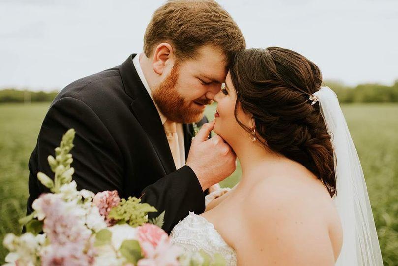 Loving look between newlyweds