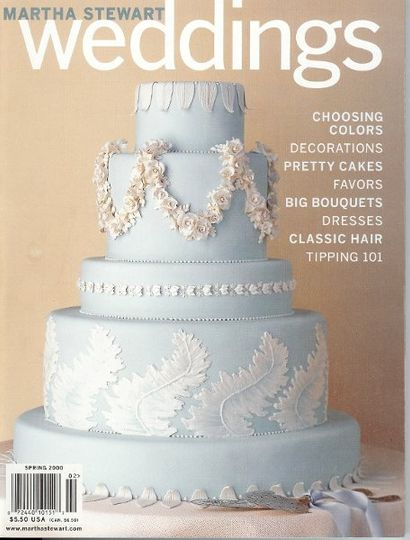 """Wedgwood"" blue fondant covered tiers"