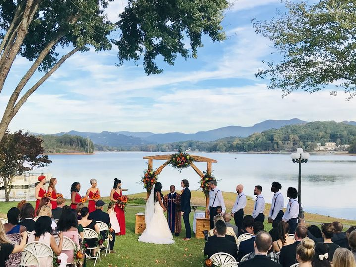 Lakeside September wedding